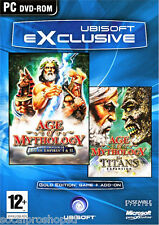 AGE OF MYTHOLOGY GOLD & TITANS EXP PC GAME NEW/SEALED XP/VISTA/7/8