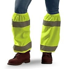 "17"" CONSTRUCTION FLAGGER HI VIS LEGGINS LEGGINGS GAITERS  2"" REFLECTIVE TAPE"