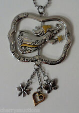 Angels watch over us GUARDIAN ANGEL spinner SPINNING CAR MIRROR CHARM REARVIEW