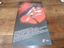 THE ROLLING STONES - LIVE LICKS!!!!!!PUBLICITE / ADVERT