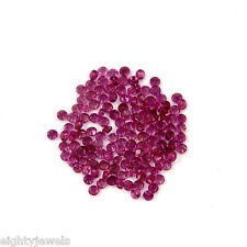 Top Quality 2MM Round Cut VVS Clarity Red Ruby Loose Stone Lot 10 Pcs