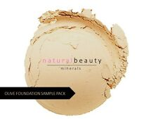 6 Sample Olive Pack Natural Loose Bare Mineral Matte Foundation Powder Makeup