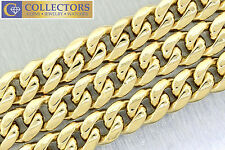 "Men's Italian 14K 585 Yellow Gold 25"" Curb Cuban Link Chain Necklace 241.70gr"
