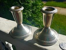 Vintage Weighted Sterling Candleholders Set Of 2 Crown Sterling