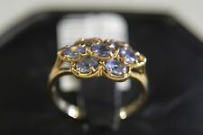 ADORABLE 10k SOLID YELLOW GOLD RING WITH TANZANITE size 7