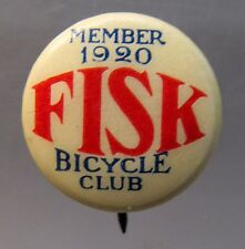 MEMBER 1920 FISK BICYCLE CLUB celluloid SMALL pinback button Bike Bicycling *