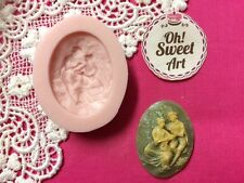 Romantic love Brooch cameo silicone mold fondant cake decorating cupcake FDA