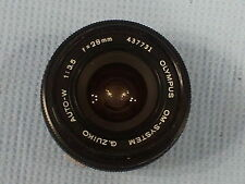 28mm f/3.5 G.Zuiko Auto-W lens Olympus OM System in excellent condition
