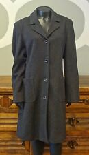 J CREW Large Wool Cashmere Charcoal Gray Lined Women's Winter Coat - L