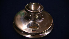 SILVERPLATE INKWELL MOVING DATE CLS EPNS ANTIQUE VINTAGE UNUSUAL HOLLOWARE