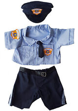 "Policeman Uniform Outfit Teddy Bear Clothes Fits 14""-18"" Build-A-Bear and More"