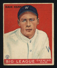 1933 V353 WORLD WIDE GUM ~ #9 ~ DAVE HARRIS ~ SENATORS