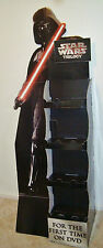 CARDBOARD STAND up Promotional DISPLAY DARTH VADER STAR WARS 2004 RACK SHELF DVD