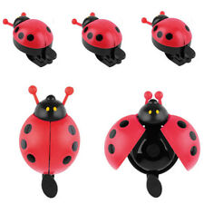 Lovely Red Beetle Ladybug Ring Bell For Cycling Bicycle Bike Ride Horn Alarm 1 x