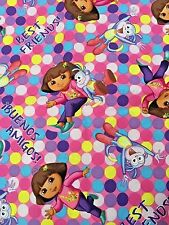 Dora the Explorer w/Boots - Best Friends - OOP 2013 ctn fabric  Springs Creative