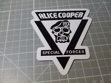 ALICE COOPER ROCK BAND MUSIC Sticker/ Decal Bumper Stickers Actual Pattern NEW