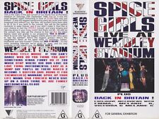 SPICE GIRLS LIVE AT WEMBLEY STADIUM~VHS VIDEO PAL ~A RARE FIND~