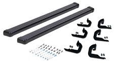 Fit 2003-2010 Hummer H2 Running Boards Side Steps Nerf Bar Black Aluminum