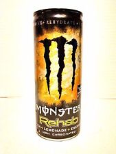 VERY RARE Monster Energy Rehab Lemonade - 8.3 oz / 240mL Can NOT MINI - Full