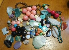 HUGE lot of beads, round,flat, big,small, see pics.Beading
