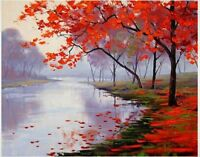 Modern abstract hand-painted art landscape oil painting on the canvas no frame