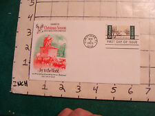 Christmas Fl. nov 3, 1969 FDC joy to the world 6 cent stamp
