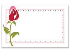 50ct. PINK & RED ROSE Floral Blank Florist Enclosure Cards Small Tags