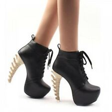 Dsquared Inspired Black Skeleton/Spine Heel Booties
