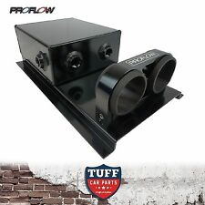 Proflow Dual Bosch 044 Pumps Mount 2.5lt Under Car Fuel Surge Tank Black New
