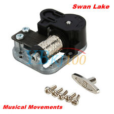 1Pcs Wind Up Musical Movements Part With Screws Winder Swan Lake Music Box DIY