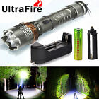 Tactical Police CREE XML T6 5000LM LED Zoomable Flashlight 18650 Battery+Charger