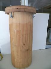 VINTAGE HEAVY SOLID WOOD 22'' DJEMBE BARREL CONSTRRUCTION*NO RESERVE