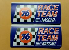 "2 pcs Vintage Union 76 fuel RACE TEAM Racing Decals Stickers   SIZE 6"" X 2.5"""