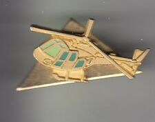 RARE PINS PIN'S .. AVION PLANE HELICOPTERE HELICOPTER EUROCOPTER OR DORE 3D ~CZ