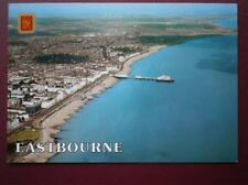 POSTCARD SUSSEX EASTBOURNE AERIAL VIEW