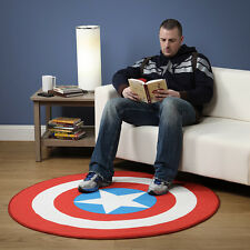 New! Captain America Shield Printed Round Rug Polyester Carpet Marvel Avengers