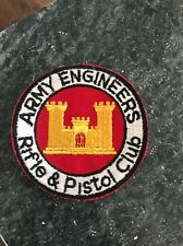 "Vietnam Cold War Era Patch 4"" Army Engineers Rifle Pistol Club Rare Scarce Logo"
