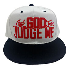 Only God Can Judge Me Flock White/Red Snapback Hat Cap