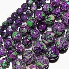 "RAIN FLOWER JASPER BEADS 4MM ROUND 15"" STRANDS BEAD"