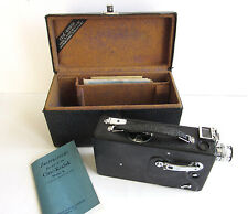 vtg1937 CINE Kodak model K 16mm Movie Film Camera case anastigmat 25mm 1.9l ens
