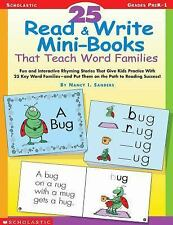 25 Read and Write Mini-Books That Teach Word Families : Fun and Interactive...