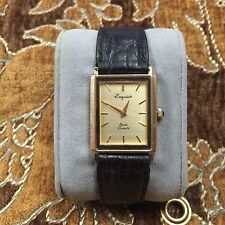 Vintage Exquisite Swiss Quartz 14K Yellow Gold Men's Wristwatch 23MM OUT-OF-PAWN
