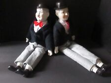 Vintage Laurel and Hardy porcelain dolls (23in and 20in)