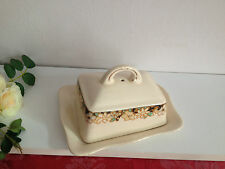 Antique Ivory ware  Floral pattern Cheese/butter  Dish  RARE