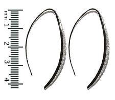 GLITZy PAVE CLEAR SLIP ON CUBIC ZIRCONIA 42MM HOOP EARRINGS