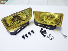 "FOG LIGHT SPOT LAMP DLAA SET H3 12V 55W YELLOW LENS 2"" FOR UNIVERSAL CAR LH+RH"