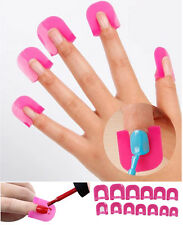 26 Pcs Nail Polish Anti Flooding Finger caps Anti Smudge Nail Art Plastic Clip