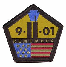 """OD Tactical Remember """"9-11-2001"""" Embroidered Tribute Patch - Hook & Loop Backing"""