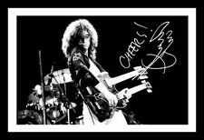 JIMMY PAGE AUTOGRAPHED SIGNED AND FRAMED  POSTER PHOTO