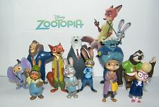Disney Zootopia Movie Figure Set of 13 Deluxe with Officer Judy Hopps and More!